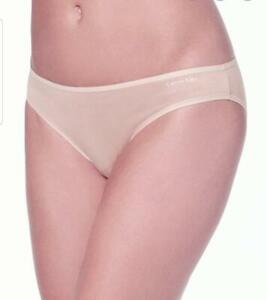 Calvin Klein Womens Plus Size Form Stretch Bikini Panties size XL Light Pink NEW