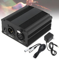 USB 48V Phantom Power Supply with XLR Audio Cable for Condenser Microphone