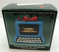 American Greetings Merry Christmas Vintage Computer Ornament Blinking Message