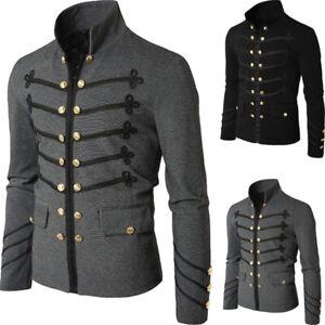 Fashion Mens Autumn Steampunk Gothic Party Vintage Jacket Outwear Coat Clothing