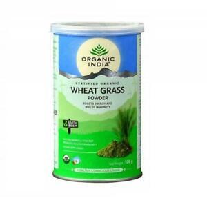 ORGANIC INDIA WHEAT GRASS 100 Gram FREE SHIPPING