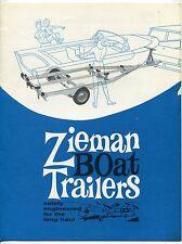 """Vintage Advertising Sales  Brochure: """"ZIEMAN BOAT TRAILERS"""""""