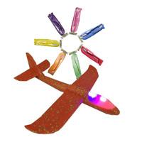 XXL Gleitflieger LED Licht! Styroporflieger 50 cm Flugzeug Wurfgleiter Glider