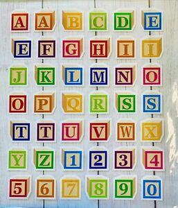 Rainbow ABC Alphabet Block Letter Stickers Planner Teacher Scrapbook DIY Crafts