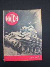 Match Magazine Vintage France French January 4 1940 Hitler VG Condition WWII