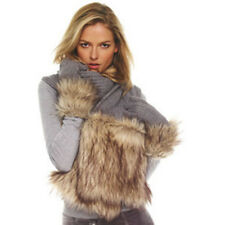 Michael Kors Grey Cable Knit Faux-Fur Pocketed Scarf BNWT