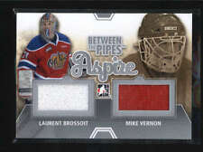 LAURENT BROSSOIT/ MIKE VERNON 2012/13 ITG PIPES DUAL JERSEY SILVER SP/140 AB6068