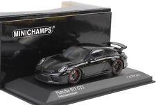 2016 Porsche 911 991 gt3 Noir Métallisé/noire jantes 1:43 Minichamps