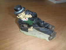 Extremely Rare! Charlie Chaplin on the Floor Polystone Statue/Figurine
