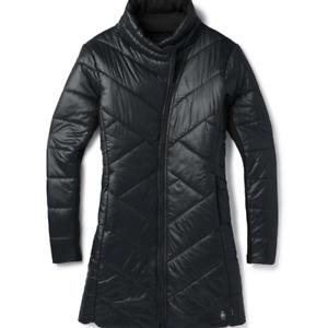 NWOT WOMENS SMARTWOOL SMARTLOFT 180 PARKA JACKET $260 S Black Regular Fit