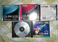 Stock Lotto 5 CD RW Rewritable Riscrivibili TDK Sony Fuji Usati 700 e 650 mb