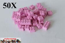 50x LEGO ® 3003 Basic pietra 2x2, marrone-rosa, BRIGHT ROSA, NUOVO, 4550359
