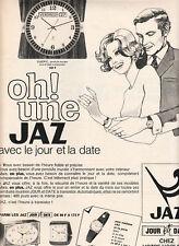 Publicité ancienne montres et réveils Jaz  1970 issue de magazine