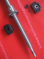 1 anti backlash ballscrew lead screw RM2505-803mm-C7 + BK/BF15 bearing mounts