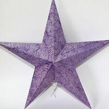 Stern Papierstern Weihnachtsstern Leuchtstern Lampe Papier Faltstern Flieder  47