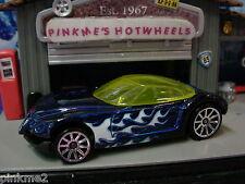 2012 Hot Wheels GOLDEN ARROW ☆Dark Blue;Flames☆LOOSE☆Multi pack Design Exclusive