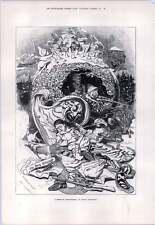 1876 Linley sambourne Artwork un rêve de Plum Pudding