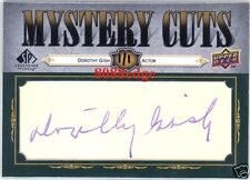 2008 MYSTERY CUTS AUTOGRAPH CUT AUTO:DOROTHY GISH #1/1 SISTER OF LILLIAN/ACTRESS
