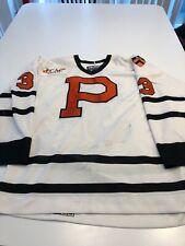 Game Worn Used Princeton Tigers Hockey Jersey Size 56 #3 Greer