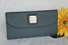 NEW Dusty Blue DOONEY & BOURKE Leather PEBBLE CONTINENTAL Clutch Purse WALLET