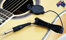 Acoustic Guitar Bass Clip-line Pickup Wire Black  NEW