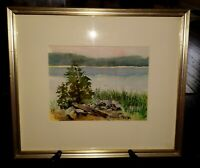 SIGNED LISTED ARTIST FRAMED LANDSCAPE ORIGINAL WATERCOLOR BY MARJORIE FORTEY