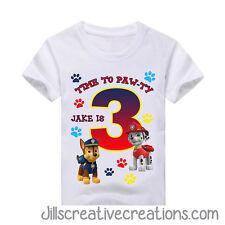 Paw Patrol T Shirt, Paw patrol, Birthday, Personalized shirts, Shirts