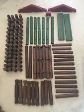 Lincoln Logs Bicentennial Edition Wood w Tin and Mega Magna Build Missing Pieces