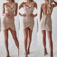 Women's Sleeveless Bodycon Bandage Club Evening Party Cocktail Short Mini Dress