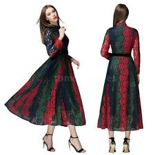 Collared Long Sleeve Regular Size Ballgowns for Women