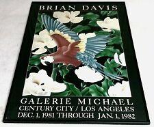 VINTAGE 1980 BRIAN DAVIS HANDSIGNED UNFRAMED LITHOGRAPH, 'PARROT III'