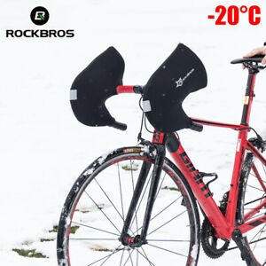 ROCKBROS Handlebar Mittens Road Bike Windproof Coldproof Commuter Warmer Covers