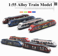 1:55 Alloy Diecasts Subway Model High Speed Railway Train Metal Vehicles Toys