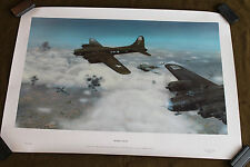 "Original WW2 B-17 ""Trouble Ahead"" Print Named to Tail Gunner & POW, A. Weiss"