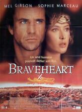 BRAVEHEART - GIBSON / MARCEAU / SCOTLAND - ORIGINAL LARGE FRENCH MOVIE POSTER