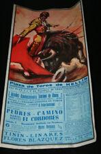 CARTEL CORRIDA TOROS PEDRES CAMINO Y EL CORDOBES, TININ LINARES, HELLIN 1965, 8º