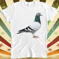 Pigeon Peagon Flower Unicorn Bird Fly Animal Funny Retro Vintage T Shirt 2888