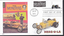 THE MUNSTERS  COFFIN CAR  DRAG-U-LA      HOT RODS   FDC- DWc CACHET