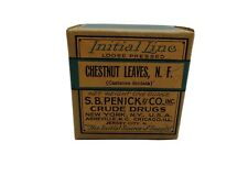 Antique Chestnut Leaves Apothecary Pharmacy Crude Drug Medicine Box Initial Line