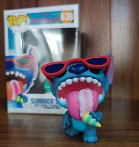 Funko POP! new Lilo&Stitch 636# Summer Stitch Eating Ice Cream Action Figure