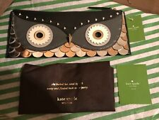 NEW KATE SPADE WISE OWL CLUTCH IN BLACK-WKRU2905