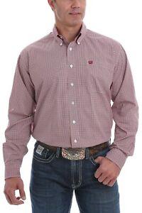Cinch Mens Micro-Geometric Print Button Down Shirt - MTW1105077 - Sizes S to 2XL