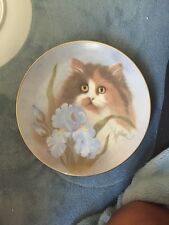 Hamilton Collection Summer Sunshine Petals And Purrs Collectors Plate