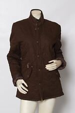 BARBOUR Womens Brown Chelsea Polar Quilted Jacket Coat - size S