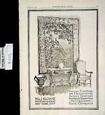 1919 Wj Sloane English Furniture D?cor Vintage Print Ad 6252