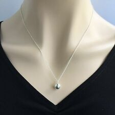 Antoinette New 925 Sterling Silver Ball Pendant Charm Chain Necklace AF Sundance