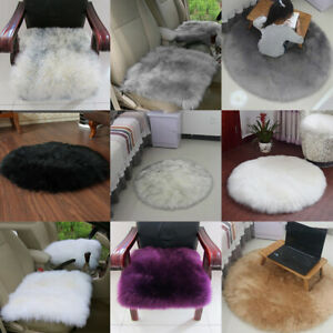 Faux Sheepskin Fluffy Area Rugs Bedroom Floor Mat Carpet Car Seat Cushion Window