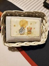 Hallmark Cards Betsey Clark Soap with white wicker holder 1975 Farmhouse