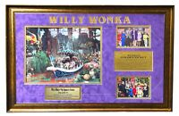 """FRAMED 32"""" X 22"""" WILLY WONKA COLLAGE AUTOGRAPHED (SIGNED) BY FIVE + BONUSES!!"""