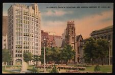 St. Louis MO Christ's Church Cathedral And Sunken Gardens Postcard